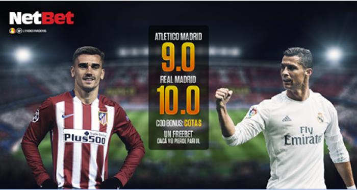 Atletico Madrid - Real Madrid | Cote marite la Netbet