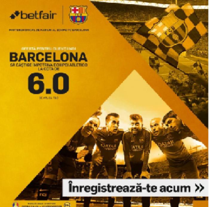 Barcelona - Atletico Madrid. Cota 6.00 pentru victoria gazdelor!