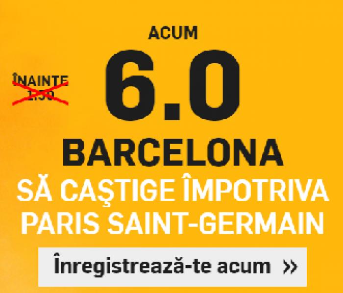 Barcelona - PSG. Cota 6.00 pentru 1 solist