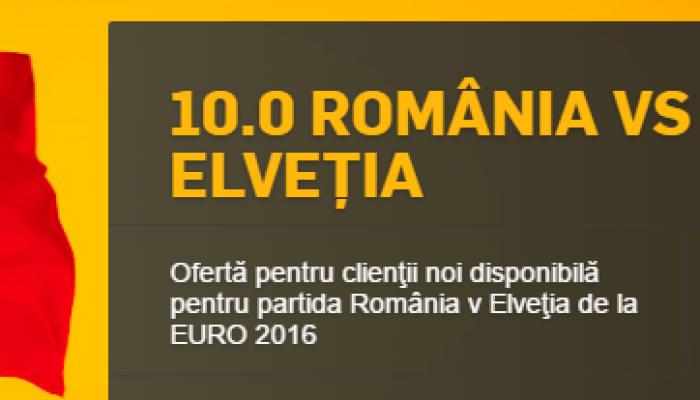 Betfair iti ofera cota 10.00 pentru victoria Romaniei in meciul cu Elvetia!