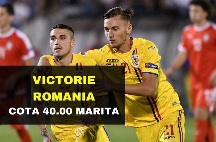 COTA 40.00 marita pentru victoria Romaniei contra Lituaniei acasa