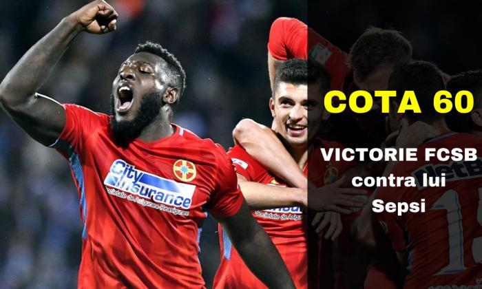 COTA 60.00 marita pentru victorie FCSB contra lui Sepsi