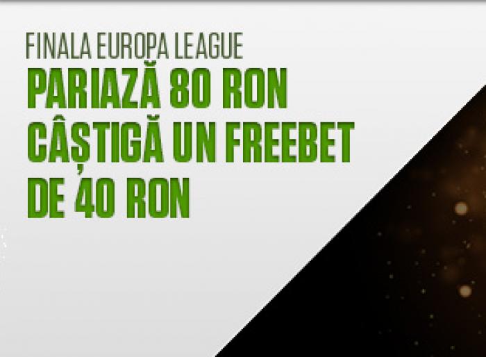 Diseara avem finala UEL - NetBet iti ofera 40 RON!