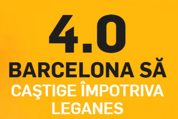 Leganes - Barcelona. Cota 4.00 pentru victoria oaspetilor!