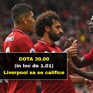 150 RON freebet cadou daca Liverpool o elimina pe Porto