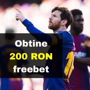 200 RON freebet daca Barcelona o invinge pe Getafe