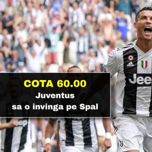 300 RON freebet cadou daca Juventus o invinge pe Spal