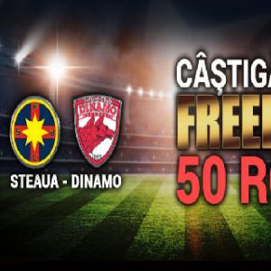 50 RON freebet pentru Steaua - Dinamo