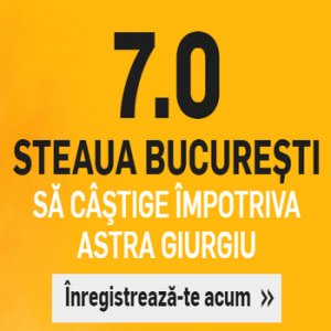 Astra - Steaua. Cota 7.00 pentru 2 solist!