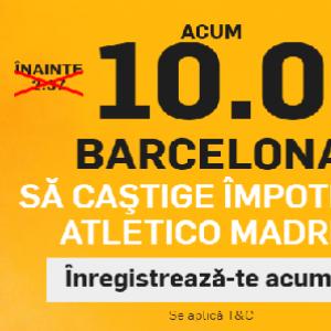 Atletico Madrid - Barcelona. Cota 10.00 pentru oaspeti!