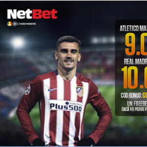 Atletico Madrid - Real Madrid | Cote marite la Netbet