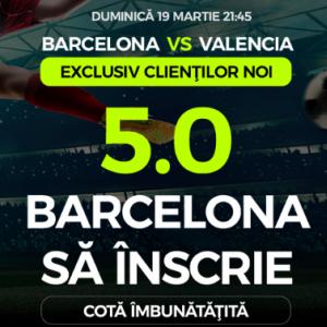 Barcelona - Valencia. Cota 5.00 pentru Barca sa inscrie - DETALII AICI