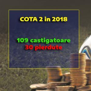 Bilant 109-30 in grupul de COTA 2 in acest an. ACCES GRATUIT