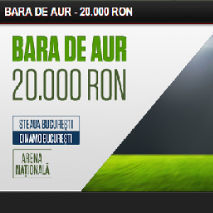 Castiga 20.000 RON daca nimeresti bara pe National Arena!