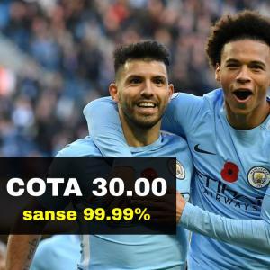 COTA 30.00 marita pentru calificarea lui Manchester City (doar jucatorii noi)
