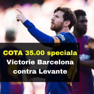 COTA 35.00 marita pentru victoria Barcelonei contra lui Levante