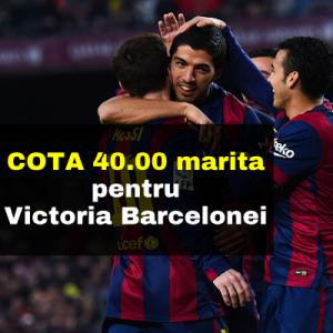 Cota 40.00 marita pentru victoria Barcelonei contra lui Vallecano, penultima clasata