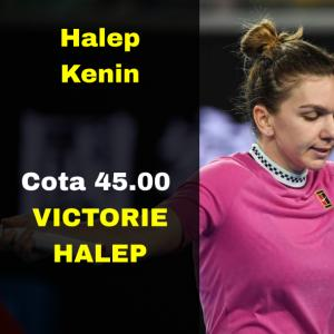 Cota 45.00 marita pentru victoria lui Halep contra Kenin