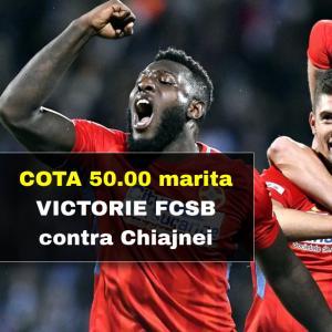 Cota 50.00 marita pentru victorie FCSB contra Concordiei Chiajna