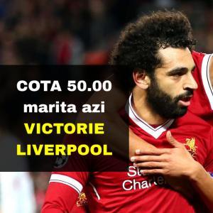 COTA 50.00 marita pentru victorie Liverpool contra Wolves