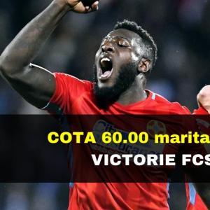COTA 60.00 marita pentru victorie FCSB contra Poli Iasi