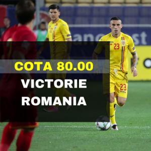 COTA 80.00 marita pentru victoria Romaniei contra Muntenegru