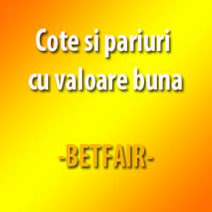Cote si pariuri cu valoare buna la Betfair - 10.06.2016