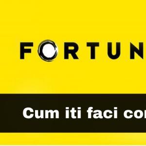Cum iti deschizi cont la Fortuna? (explicatii si imagini)