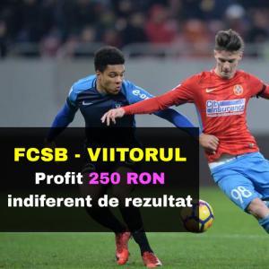 FCSB - Viitorul: profit 250 RON indiferent de rezultatul final