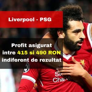 Liverpool - PSG: profit intre 415 si 490 RON indiferent de rezultatul meciului