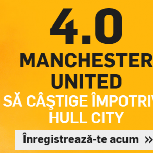 Man United - Hull. Cota 4.00 pentru 1 solist!