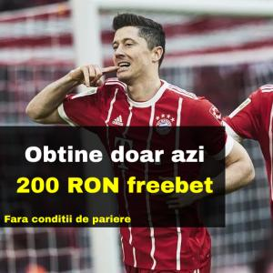 Obtii 200 RON freebet la Sportingbet daca plasezi 4 RON astazi