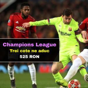 Trei cote ne aduc 525 RON marti in Champions League (sanse mari)