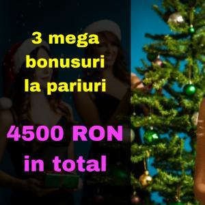 Trei mega-bonusuri la pariuri (4500 RON in total)