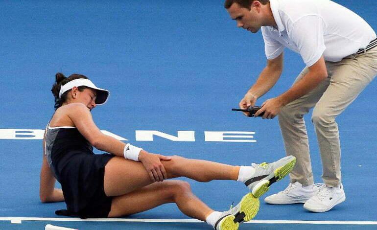 jucator tenis abandon