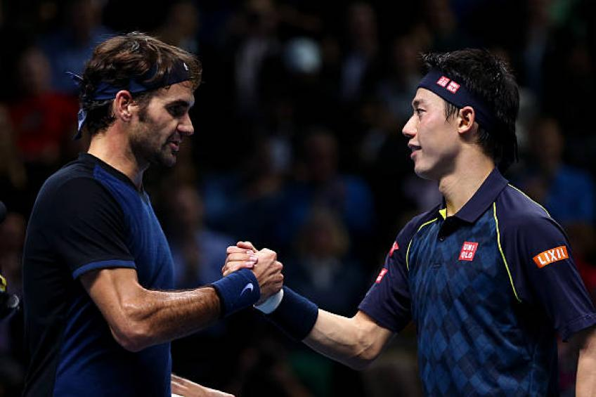 nishikori like federer forgets credentials gets stopped by security guard