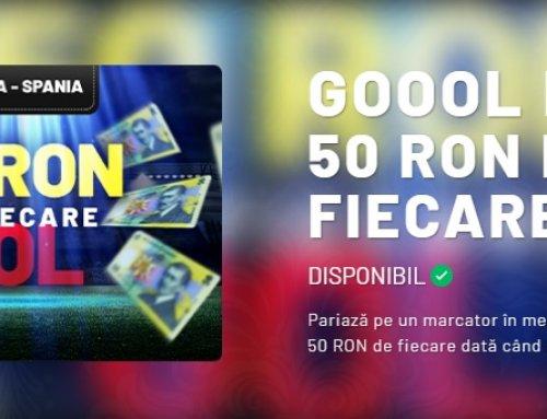 Primesti 50 RON pentru fiecare gol marcat in meciul Romania – Spania