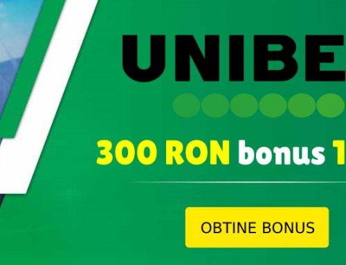 Bonus 300 RON pentru jucatorii noi de la Unibet