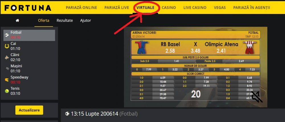 pariuri virtuale la fortuna