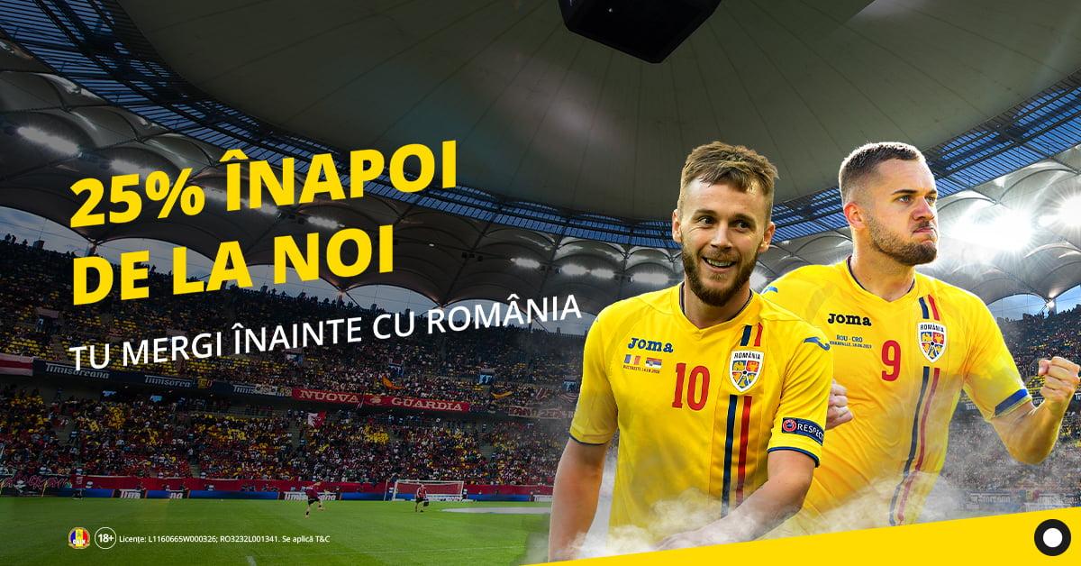 Rambursare pentru meciurile Romanei la fotbal